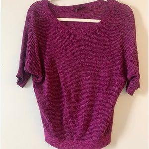 Express purple knitted light sweater